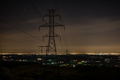 Weathering Knob looking over the Lehigh Valley at night. (lucasfotodotcom) Tags: longexposure lehighvalley weatheringknob