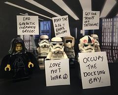 Unrest on the Death Star #Lego #starwars (mattosborne325) Tags: starwars lego stormtroopers minifig minifigs deathstar minifigure minifigures