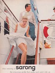 Sarong 1956 (moogirl2) Tags: retro vogue 50s 1956 sarong vintageads vintagelingerie vintagefashions vintagevogue 50sfashions vintagegirdles