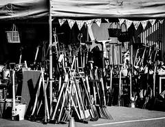 128/366 Tool Stall - 366 Project 2 - 2016 (dorsetpeach) Tags: england monochrome mono market tools dorset 365 dorchester 2016 366 aphotoadayforayear 366project second365project dorchestermarket toolstall