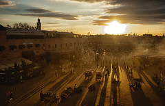 Jemaa el-Fnaa - Sunset in Marrakech (F1etch) Tags: africa north morroco marrakech jemaa elfnaa