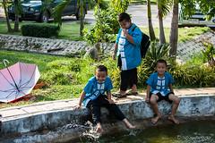 Boys on the Pond 6042 (Ursula in Aus - Away) Tags: thailand thep maehongson