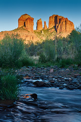 Cathedral Rock near sunset (another_scotsman) Tags: sunset arizona river landscape sedona redrock cathedralrock oakcreek redrockcrossing