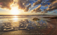 Blinded By The Light (stewartbaird) Tags: sunset sea newzealand seascape fall beach nature clouds landscape waves paekakariki