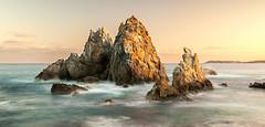 Camel Rock (laurie.g.w) Tags: longexposure sunset seascape beach rock sunrise bay coast south shoreline rocky camel nsw coastline foreshore sapphire bermagui