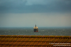Ship in the North Sea, Kirkcaldy, Scotland