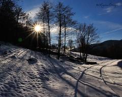 Controsole della befana (explore) (La_ura_) Tags: claro winter mountain snow backlight nikon ombre neve sole letitsnow inverno montagna controluce raggi d90 controsole caur