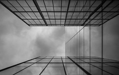 Smoke and Mirrors (TS446Photo) Tags: world street camera city sky blackandwhite bw white black reflection building london glass up architecture club clouds liverpool square office nikon day pattern shot sale bishops dslr manfrotto befree d600 1835mm nikon1835mm nikond600 catpure nikoneurope ts446 wwwlondonfineartphotographycouk