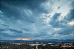 5D3_7715 (Dallas Maher) Tags: city sky color colour nature night clouds canon lights twilight scenery mt mark iii hills mount kangaroo 5d canberra lightning ainslie