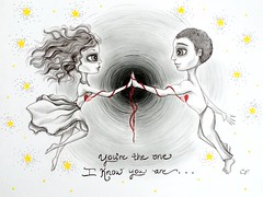 You are the One (Enchanted Fields) Tags: illustration sketch drawing originalart prismacolor graphite pencildrawing inkart theone twohearts