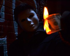 (Stop & Snap) Tags: money dark fire scary evil mysterious anonymous