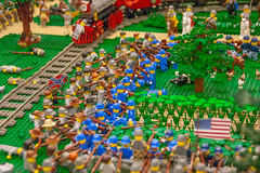Skirmish lines (SEdmison) Tags: lego union battle confederate civilwar convention 2015 americancivilwar brickcon bricksburg battleofbricksburg brickcon2015
