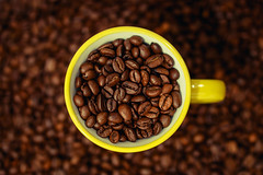 Good Morning (Amir Shayani) Tags: brown cup coffee yellow beans drink background mug