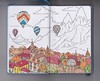 Small town in the Mountains (Kate_Lokteva) Tags: travel mountain sketch balloon sketchbook hotairballoon mountainview letraset promarkers