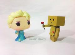 HI (PlasticGiraffe) Tags: cute rose toy photography frozen funny princess little disney pop queen lovely elsa funko danbo toyart boomie danboard
