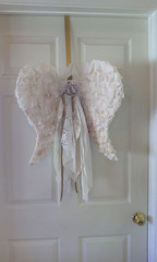 Get Your Wings (Jazzie Menagerie) Tags: door home farmhouse wings rags rustic decor rhinestones hanger angelwings shabby jazziemenagerie