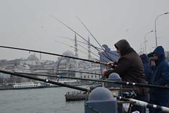 DSC_1686 (zeynepcos) Tags: bridge winter snow man cold fishing fisherman outdoor istanbul mosque galata karakoy eminonu
