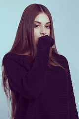Mariana (Andrs Vallejo.) Tags: light portrait girl beautiful face look hair studio photography model eyes young stunning