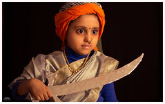 Subhi-January 25, 2016-3 (PicsbyNitts) Tags: day republic queen sword ki rani raani jhansi jhaansi queenofjhansi nittsphotography