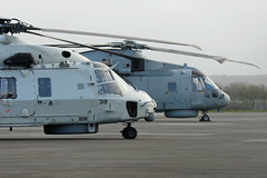 'Neptune' and 'Kingfisher' (WestwardPM) Tags: nh90 newquayairport zh837 n319 merlinhm2