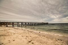 (ja.corby) Tags: travel bridge beach sand southaustralia