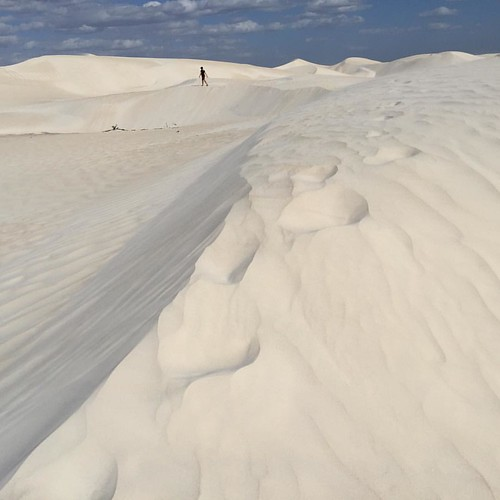 "Where's Audrey? The sand dunes of Nambung National Park, just south of Cervantes, Western Australia en route to the town of Lancelin.  ""Maybe I should pull over. I want to check these dunes out.""  So glad we did, just by chance. Parked the camper van, wal"