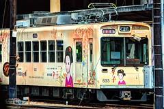 Arashiyama/Kyoto - Keifuku Electric Railway (Randen) (David Pirmann) Tags: japan kyoto trolley tram arashiyama transit streetcar keifuku randen katabiranotsuji arashiyamaline randensaga