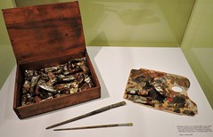 A.Y. Jackson's paintbox, palette, and brushes (Will S.) Tags: ontario canada art gallery artgallery canadian trunks emilycarr mypics kleinburg aboriginalart canadiana groupofseven tomthomson mcmichael mcmichaelcanadianartcollection mcmichaelgallery