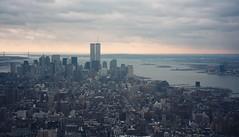 Lower manhattan 1997 (calcatstirzaker) Tags: usa newyork skyline manhattan 1997 wtc worldtradecentre
