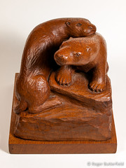 Otters (Roger B.) Tags: sculpture carving otter woodcarving lutralutra ronaldbutterfield