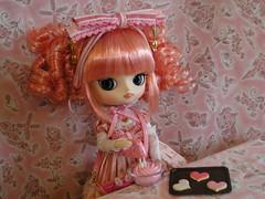 Maretti making cookies... (TrueFan) Tags: pink cookies doll heart sweet dal maretti angelicpretty