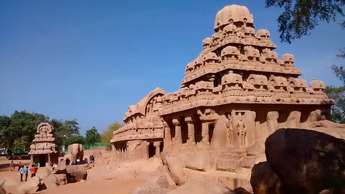 The Temples of Mahabalipuram, UNESCO world heritage site. It was a bustling seaport during ancient times and Indian traders who went to South East Asia sailed from the seaport of Mahabalipuram. The city is around 60 kms from Chennai.  www.PushpendraGautam