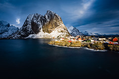 Hamnoy (Lukasz Lukomski) Tags: longexposure light sea snow mountains ice water norway island norge rocks europa europe scandinavia lofoten góry woda archipelago skały morze hamnoy sigma1020 norwegia wyspa archipelag skandynawia lofoty nikond7200 lukaszlukomski