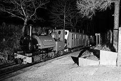TR 44205bwcont (kgvuk) Tags: nightphotography station trains railwaystation locomotive railways tr steamlocomotive northwales talyllyn narrowgaugerailway dolgoch talyllynrailway 042st dolgochfallsrailwaystation