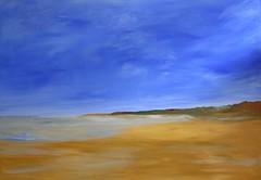 on the beach. Acrylic painting on canvas, 70x100 cm (Xtraphoto) Tags: sea art beach strand meer paint acrylic mare kunst painted canvas acryl malen ebbe sandstrand gemalt strandszene