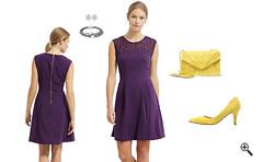 Lila Cocktailkleid Kurz kombinieren Lila Outfits (engeldomizil1) Tags: outfit dress lila kleider purble cocktailkleider