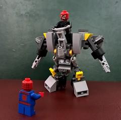 minirhino03 (chubbybots) Tags: lego spiderman captainamerica mech redskull