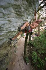 Snarl (gomezthecosmonaut) Tags: newzealand climbing rockclimbing barrabas a99 kristenfoley routeclimbing zeissdistagon28mmf2 distagont228