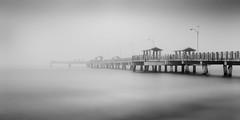 Morning Sea Fog (josesuro) Tags: longexposure bw beach fog digital landscapes tampabay florida piers fineart ftdesoto 2016 floridagulfcoast leebigstopper afsnikkor50mmf18g jaspcphotography nikond750