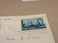 Iran postage stamp (Dan_DC) Tags: macro post mail iran stamp international envelope postage postagestamp shah