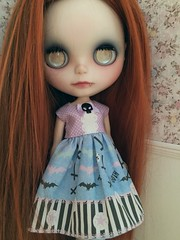 Tabitha stylin' her new gothic spring dress!