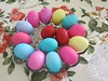 Sunday Colours - Happy Easter to all my Flickr Friends ! (Pushapoze (NMP)) Tags: easter paintedeggs orthodoxeaster teal