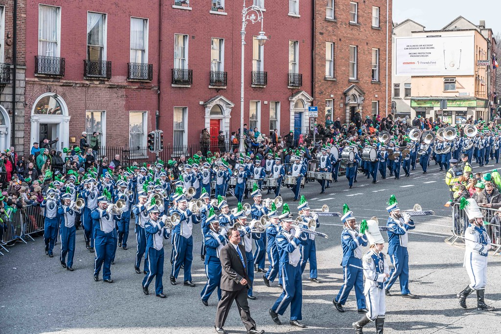 THE OLD DOMINION UNIVERSITY MONARCH MARCHING BAND [ST. PATRICK'S PARADE 2016]-112630