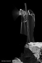 Led Zeppelin Wizard Close Crop (Mark Birkle) Tags: light bw white mountain black art composite photoshop dark hair beard photo cool long image cone wizard robe top album magic picture zeppelin peak best led staff mysterious lantern fourth hermit pinnacle zoso