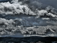 Threatening Skies over Coimbra (rgrant_97) Tags: sky portugal clouds effects dramatic olympus cu coimbra nvens sz15