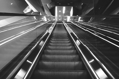 Blackandwhite Symmetrical From My Point Of View | Escalator Going Up ? Going Down ? at Westfield Sydney (eeemmmiii) Tags: blackandwhite escalator symmetrical goingdown goingup frommypointofview