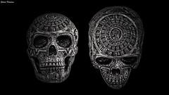 Mayan skull (GaboUruguay) Tags: blackandwhite bw adorno art blancoynegro mexico creativity skull arte calendar maya decoration fake craft mayan resin resina artesania piramide calendario monocrome craneo
