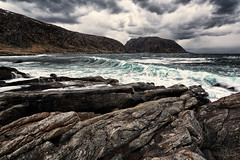 A windy day in Mulevika (Usstan) Tags: ocean winter sea sky mountain seascape storm mountains water rain norway clouds lens landscape norge nikon rocks day waves seasons wind outdoor no hill sigma wideangle d750 rough westcoast 1224mm locations costal sunnmre mreogromsdal hery nerlandsy nerlandsya
