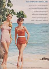 Chromspun 1956 (moogirl2) Tags: retro vogue 50s 1956 vintageads vintagefashions vintageswimwear vintagevogue 50sfashions chromspun