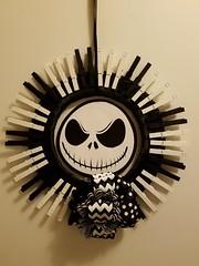 Nightmare Wreath (zodia81) Tags: oneofakind wreath homemade gift timburton nightmarebeforechristmas